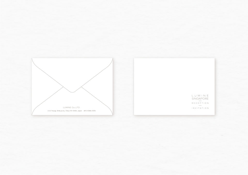 ルミネシンガポール INVITATION 封筒